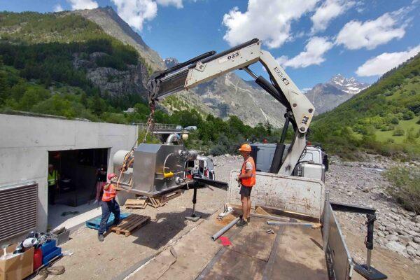 Pelton E++ Impianto idroelettrico Champoleon 1