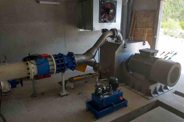 Pelton E++ Impianto idroelettrico Champoleon 2
